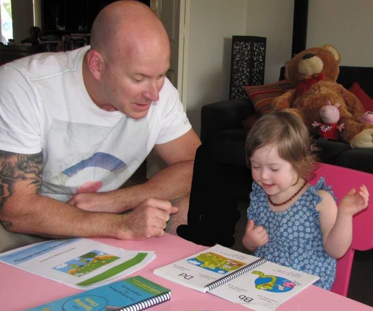 Reading to Toddler with Down Syndrome